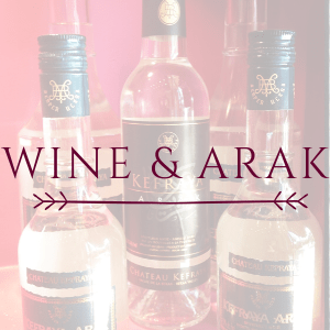 Our products: Wines & arak